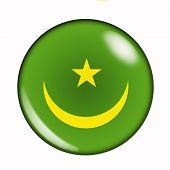 Button Flag Of Mauritania