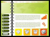 Green Combined With Orange Web Template