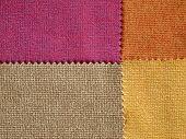 Sample Fabric Hot Tone Color