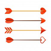 Cupid's arrows. Vector.