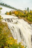 Montmorency Falls Park near Quebec City, Canada. The waterfall is 83 m tall, a full 30 m higher than
