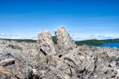 stock photo of obsidian  - A huge pile of obsidian and pumice - JPG