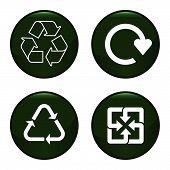 Recycling van pictogrammen
