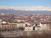 foto of turin  - Turin skyline panorama seen from the hills surrounding the city - JPG
