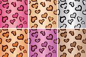 Leopard heart Seamless tiling pattern