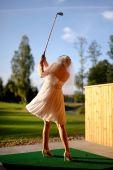 Bride Playing Golf