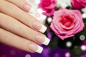 Classic French manicure.