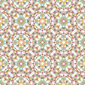 Stylish geometric mandala style seamless pattern in vector