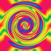 Abstract hypnotizing twirl in beautiful rainbow colors