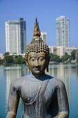 Buddha Statue In Gangarama Temple In Colombo