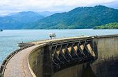 stock photo of hydroelectric power  - Victoria Dam is an arch dam located 130 mi  - JPG