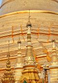 picture of yangon  - Golden pagoda elements of Shwedagon Paya in Yangon - JPG