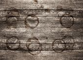 Rustic Wooden Background With Stains