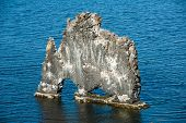 Hvitserkur is a spectacular rock in the sea on the Northern coast of Iceland. Legends say it is a pe