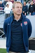 CARSON, CA. - FEB 01: USA Head Coach Jurgen Klinsmann during the U.S. mens national team soccer friendly against Korea Republic on Feb 1st 2014 at the StubHub Center in Carson, Ca.