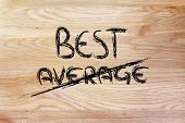 Business Vision Of The Leader: Be The Best, Fight The Average