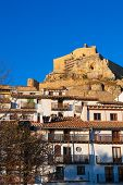 Morella Castellon castle and village in Maestrazgo at Spain
