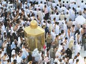 MECCA, SAUDI ARABIA - OCTOBER 13: Muslim pilgrims, from all around the World, revolving around the K