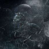 fantasy horse, combination of photo and textures