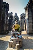 Budda King of Angkor wat at Cambodia
