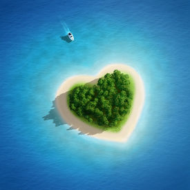 picture of paysage  - Gorgeous Beach Landscape heart  - JPG