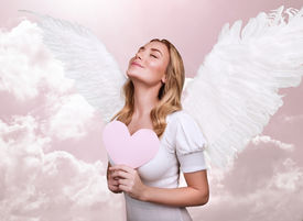 stock photo of cupid  - Angel of love - JPG