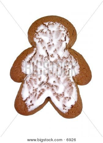 Gingerbread Man On White poster