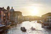 Grand canal in Venice, Italy on the sunrise