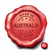 Made In Australia Red Wax Seal