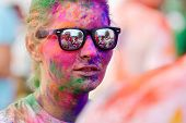 MAMAIA, CONSTANTA, ROMANIA - JULY 26: Mamaia color run 2014, in Mamaia, Constanta, on July 26, 2014.