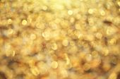 Gold bokeh background. Element of design.