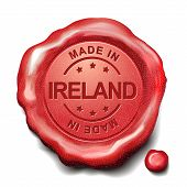 Made In Ireland Red Wax Seal