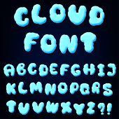 Cloud Alphabet For Design
