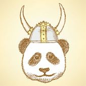 Sketch Cute Panda