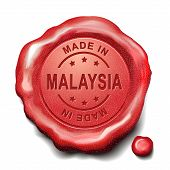 Made In Malaysia Red Wax Seal