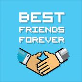 Happy Friendship day background with handshake