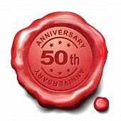 50Th Anniversary Red Wax Seal