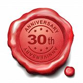 30Th Anniversary Red Wax Seal