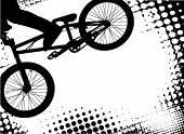 bmx halftone background