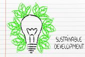 Green Economy, Leaves Growing Around An Idea