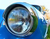Old Chromium-plated Headlight