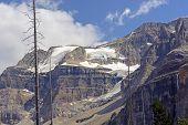 Alpine Glacier On A Barren Peak
