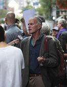 Activist Norman Finkelstein on 2nd Ave