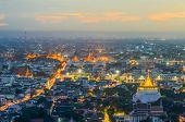 Beautiful Temple And Wat Phra Keao In Bangkok At Twilight