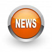 news orange glossy web icon