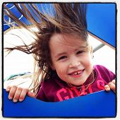 Adorable little girl outdoors in Summer - With Instagram effect