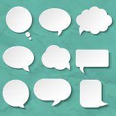 Speech Bubbles Set For Design, Vector Illustration