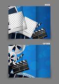 Cinema tri-fold brochure design