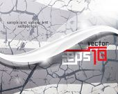 eps10 vector crack and wave chrome background