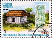 Postage Stamp Shows Example Maya Culture